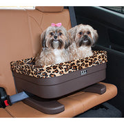 aguar print solid base dog booster seat -large