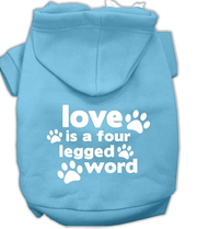 large Love sweatshirt-for dogs  blue