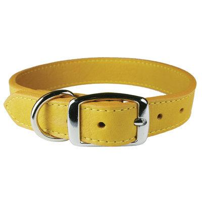 Wide Leather Luxe Collar- Golden