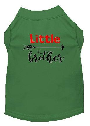 Little Brother Shirt for dogs - green