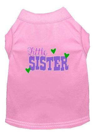 lil sister shirt for dogs  pink