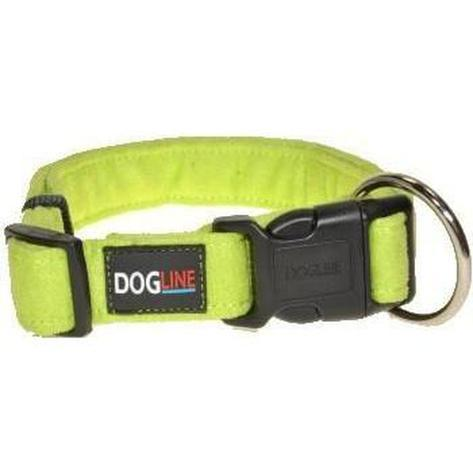 lime green dog collar personalized microfiber