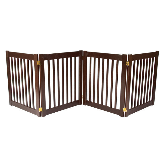Highlander mahogany indoor gate -4 panel