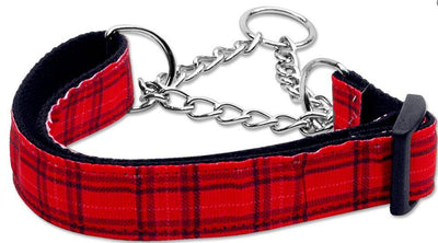 Red Plaid Correction Collar