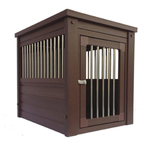Furniture table dog crate -wood look-new-age