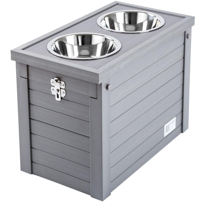 gray old dog diner with storage