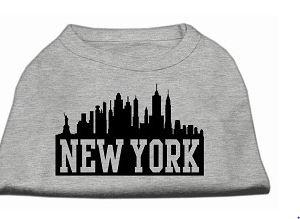 New York Skyline Shirt For Dogs