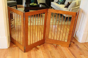 36 inch Tall Pet Barrier Gate - OAK