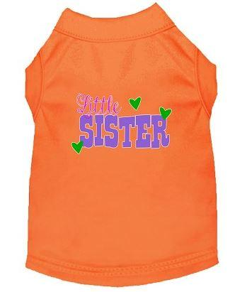 Lil' sister shirt for dog -Orange