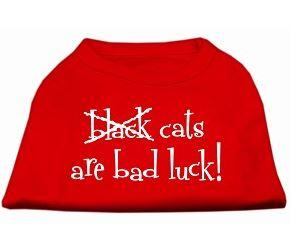 shirt for dogs -cats are bad luck -red shirt