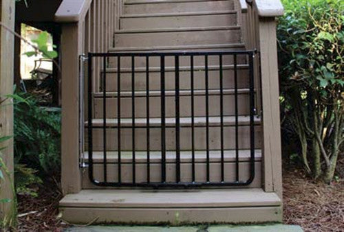 black wall mount expandable gate