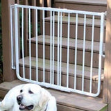 Outdoor Aliminum dog gate with mounting hardware