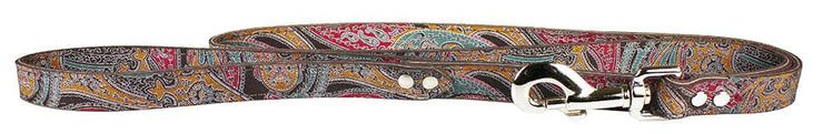 Paisley Leather Collar Chocolate