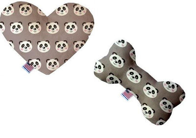 Panda Gray Canvas Squeaker Toy