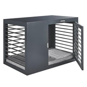 Gray Modern Dog Crate