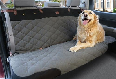 Gray deliuxe pet hair barrier vehicle cover