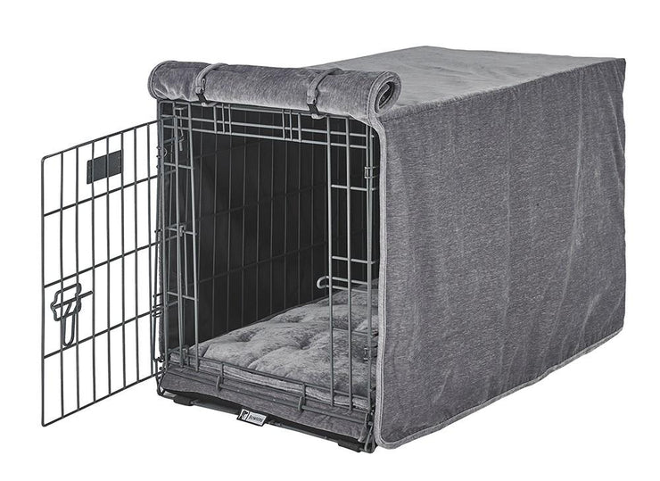 Quilted Crate Bed For Dogs - Pumice