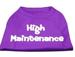 Purple High Maintenance shirt for dogs