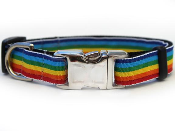 Rainbow aluminum buckle collar