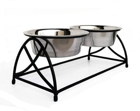 Elevated Metal Dog Feeders Stainless Steel Dog Diners