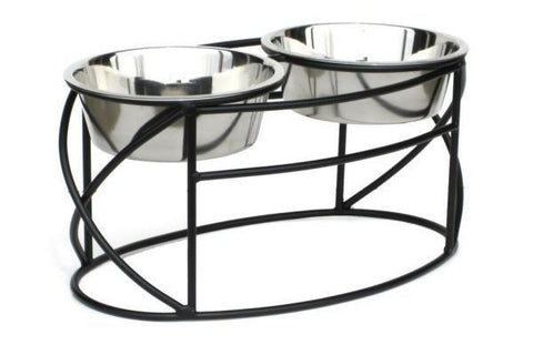Oval Base Dog Feeder