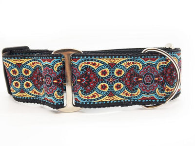 Turquoise-Red X Wide Martingale Collar