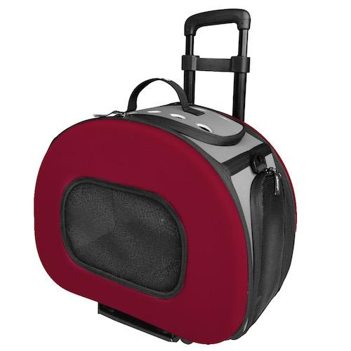 RED WHEELED PET CARRIER