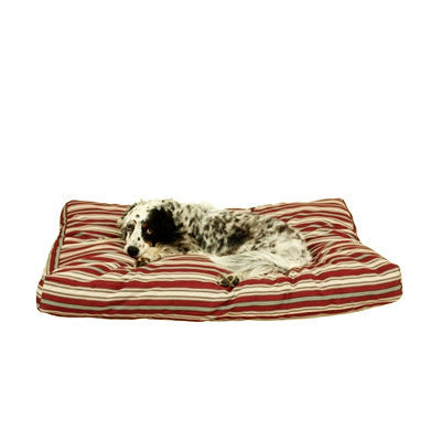 Red stripe indoor outdoor Jamison dog bed