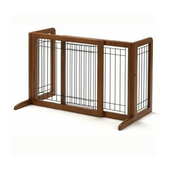 Tall Stand Alone Wood Pet Gate