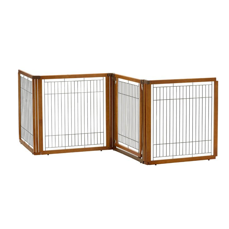 Room Divider -Convertible-dog gate autumn finish  4 panel with door