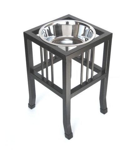 Tall Raised Bowl Feeder - Mocha