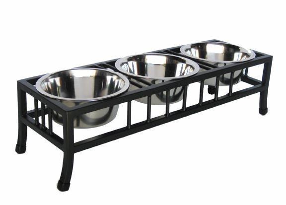 3 bowl designer quality small dog or cats dinner