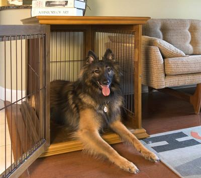 cool end table dog crate furniture | Ruff Haus Unique Wooden Dog Crate Side Table Furniture ...