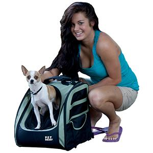 Small Dog Backpack Carrier w wheels