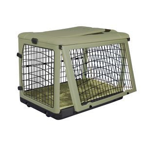 Sage Green Other Door Steel Pet Crate with Wheels