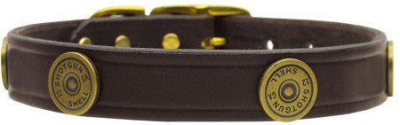 Shotgun shell designer leather collar