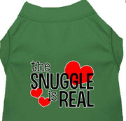 Snuggle is real funny dog shirt