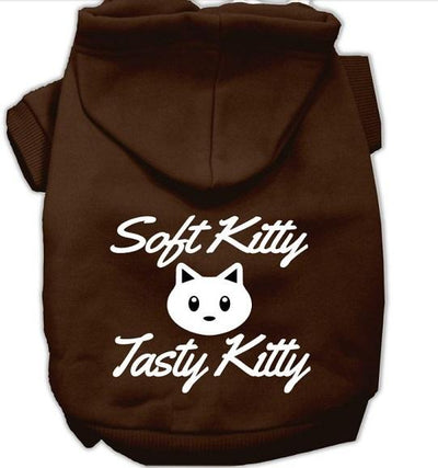 soft tasty kitty doggie hoodie- brown