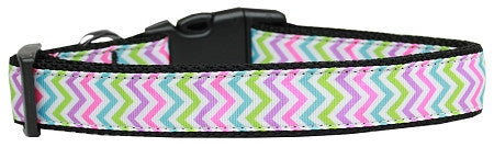 Summer Chevron -dog-collar