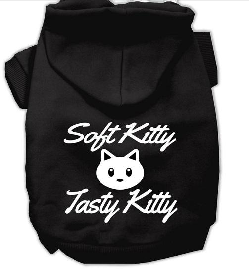 soft tasty kitty pitbull dog hoodie- black