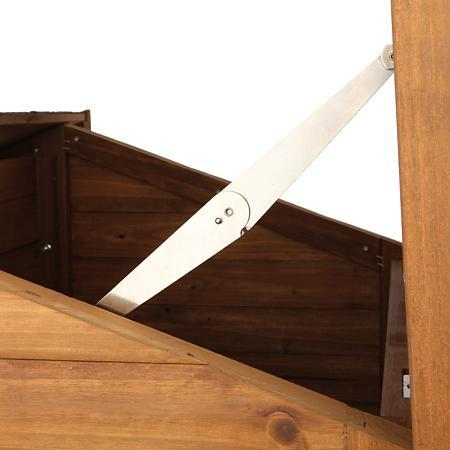 hinged roof -for easy cleaning