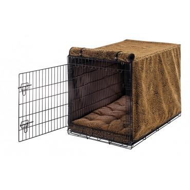 Quilted Crate Bed For Dogs - Toffee