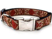 venice ivory dog collar w metal buckle