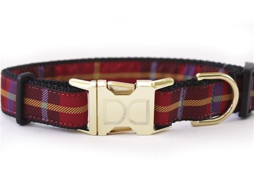 Plaid Dog Collar-Leash