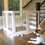 36 inch Tall Pet Barrier Gate - White