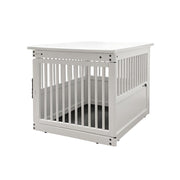end table dog crate -white wood furniture