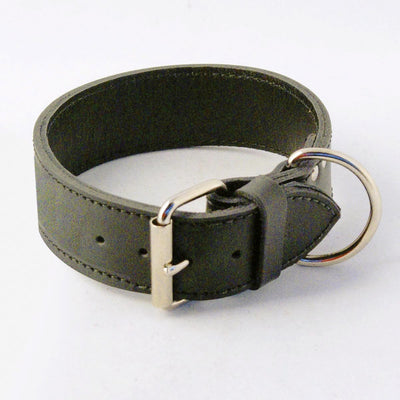 Extra Wide Leather Dog Collar