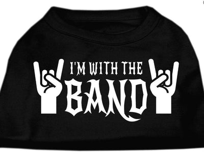 with the band dog-shirt- black