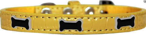 Yellow croc collar