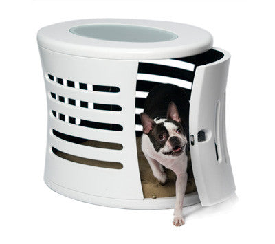 Zen Haus Fiberglass Dog House - White